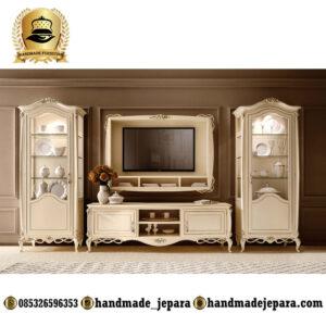 lcd kabinet duco putih