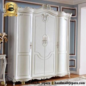 lemari pakaian duco putih