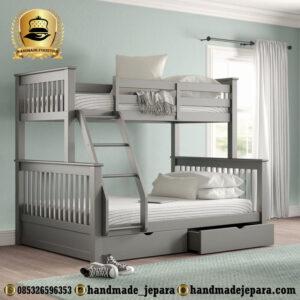 tempat tidur tingkat laci
