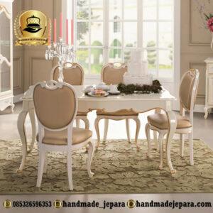 1 Set Meja Makan Putih