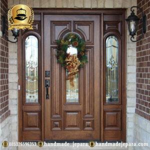 Pintu Rumah Kayu Kaca